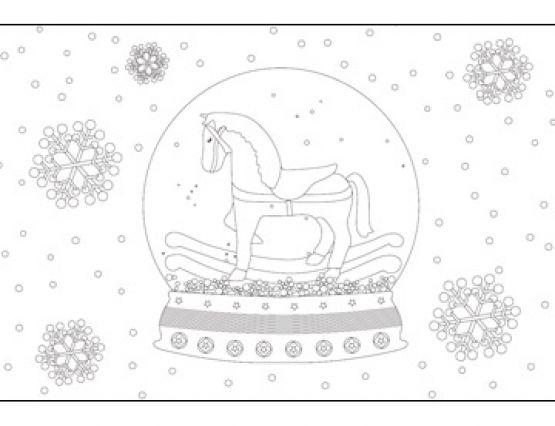 20 Postales de Navidad para colorear