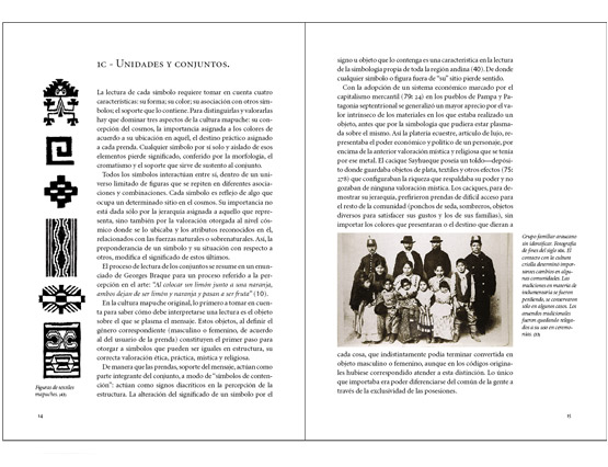 Simbología mapuche en territorio tehuelche