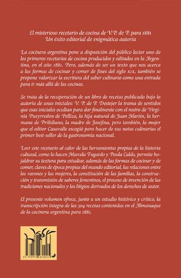 La cocinera argentina. Un recetario del siglo XIX de enigmática autoría