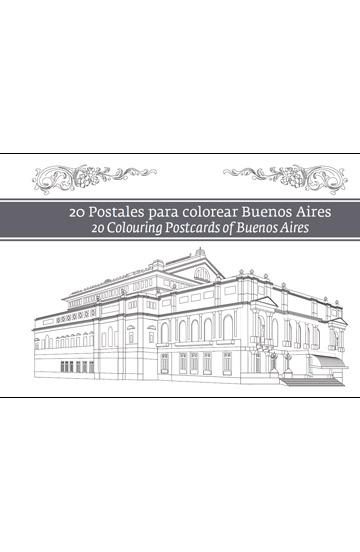 20 Postales para colorear Buenos Aires